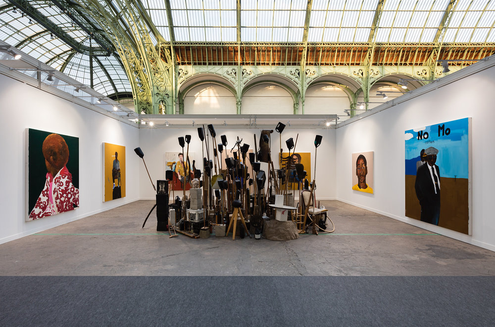 Blum & Poe booth, Installation view at FIAC, Paris, 2017, Photo: Andrea Rossetti